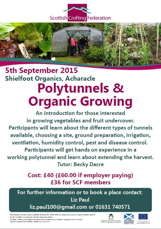 2015 Sept Polytunnel crofting course Acharacle